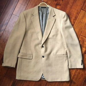 Jos A Bank 100% Camel Hair Mens Blazer Beige 44L